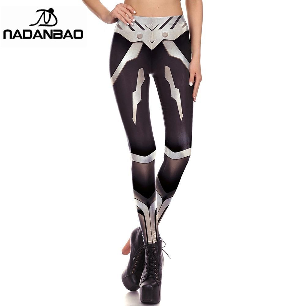 NADANBAO Ladie Trousers Leggings Polyester Printed Comic Anime leggings plus size Femme Mujer Fitness Pants Leggins Women Capris