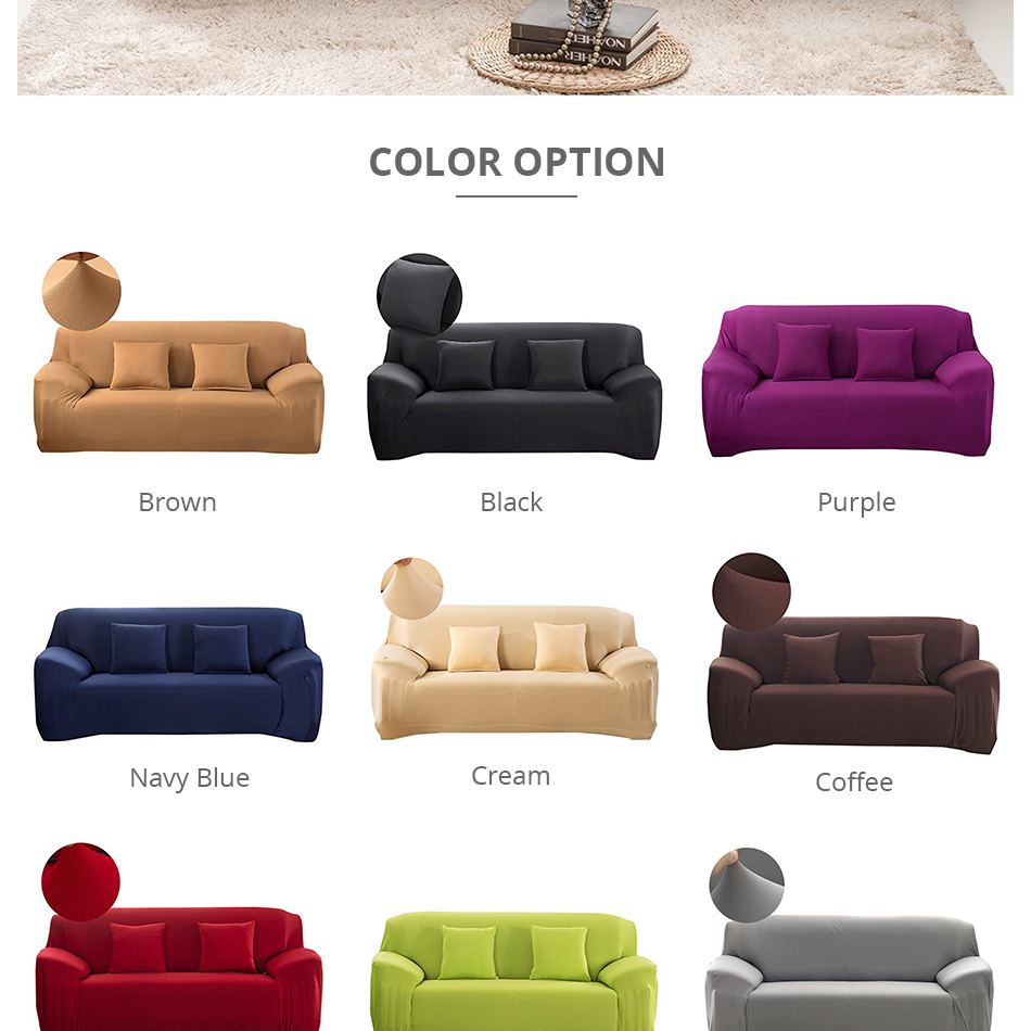 Pleasant Us 14 96 56 Off Plain Elastic Stretch Sofa Covers Polyester Spandex Fabric Arm Couch Sofa Slipcover Furniture Cover Single Two Three Four Seater In Ibusinesslaw Wood Chair Design Ideas Ibusinesslaworg
