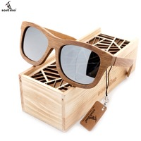 100 Natural Bamboo Wooden Sunglasses Handmade Polarized Mirror Coating Lenses Eyewear With Gift Box
