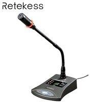 Retekess T124 RF беспроводной Конференц-системы синхронного перевода пол поддержка микрофон аудио передатчик для встречи