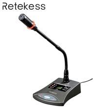Retekess T124 RF Wireless Conference System Simultaneous Interpretation Floor Support Microphone Audio Transmitter for Meeting