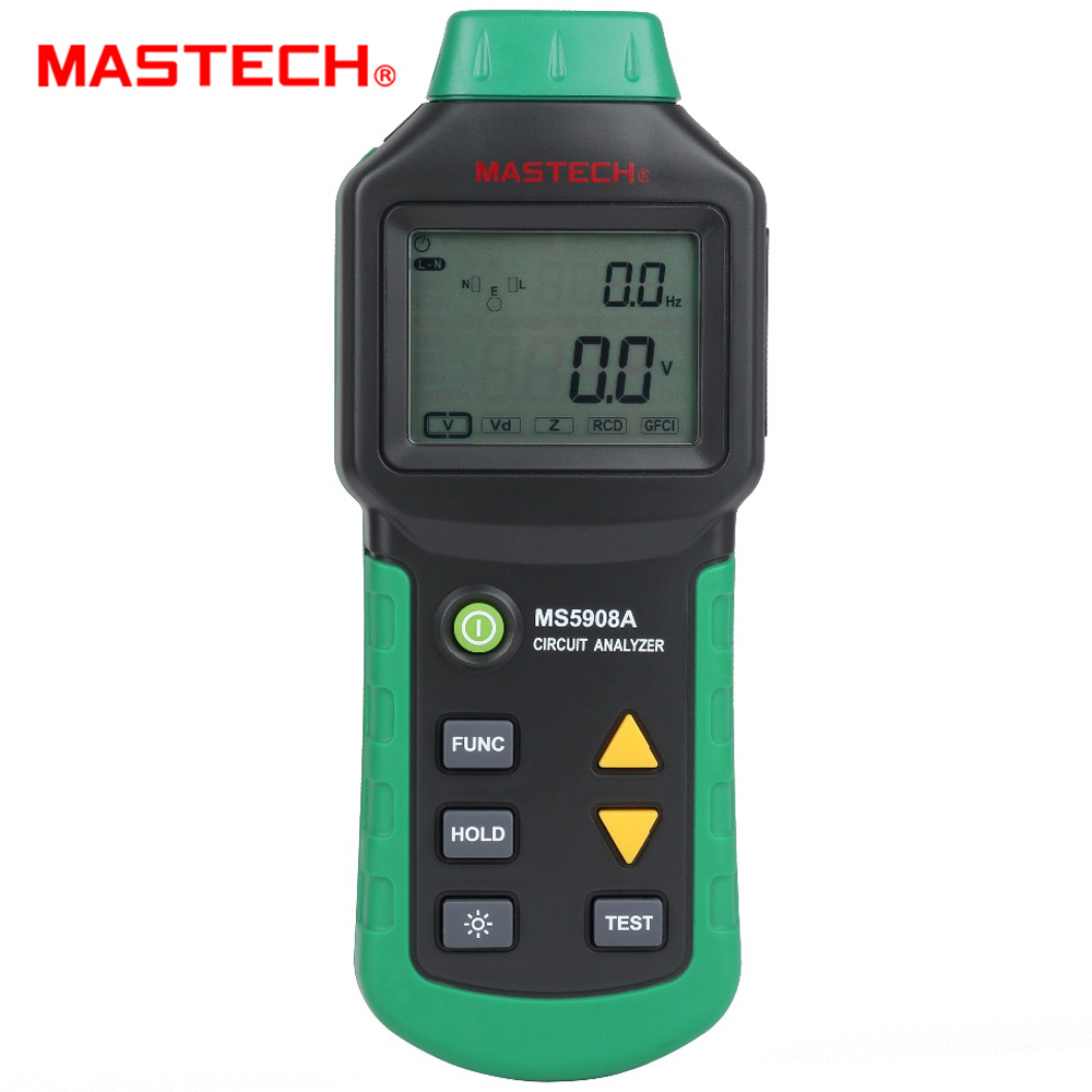 Mastech MS5908 RMS Circuito Analyzer Tester Comparado w/IDEAL Claro Teste Socket Tester 61-164CN 110V ou 220V