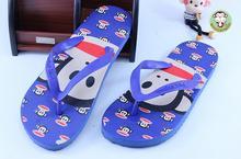 2017 New Monkey lovers flip-flops carton flat sandals women candy colored female summer beach slippers and flip flops