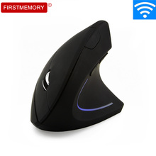 Wireless Mouse Ergonomic Vertical 5D 1600 DPI Colorful LED Computer Gaming Mice Mause With Pad Kit For PC Laptop