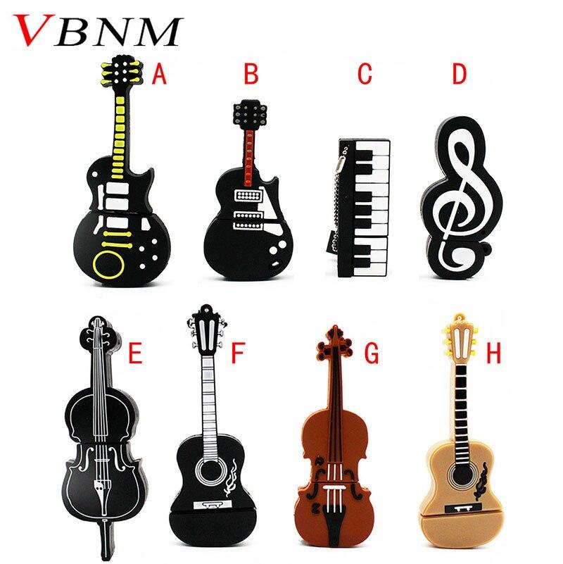 Practical Shandian 8 Styles Musical Instruments Model Pendrive 4gb 16gb 32gb 64gb Usb Flash Drive Violin/piano/guitar 100% Guarantee Computer & Office