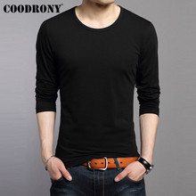 COODRONY Long Sleeve T Shirt Men Bottoming Tshirt Pure Color Casual O-Neck Top T-Shirt Soft Cotton Tee Homme 95002