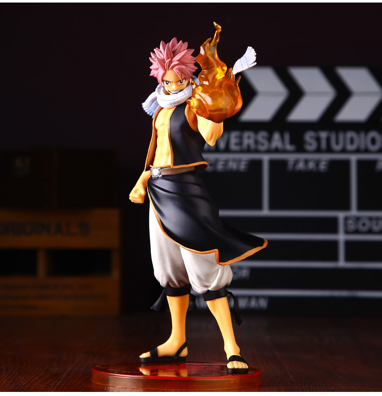 Anime Fairy Tail Natsu Dragneel PVC Action Figure Collectible Model doll toy 23cm