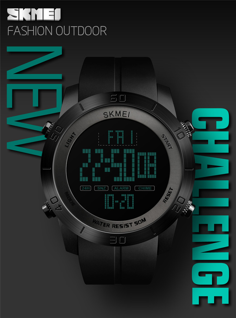 16a66ceb2af2 ... pulsera deporte pantalla LED reloj masculino electrónico funcionamiento al  aire libre relogio erkek kol saati dijital. SKMEI Digital Watch Men `s ...