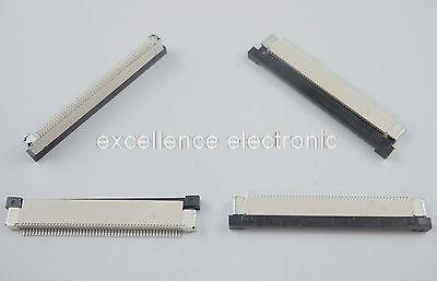 10 Pcs FPC FFC 0.5mm Pitch 50 Pin Drawer Type Ribbon Flat Connector Top Contact 2 pcs 125 mm 60 pin 0 5mm pitch ffc cable flat ribbon flat cable same sides 60p for ffc connector ul style 20624