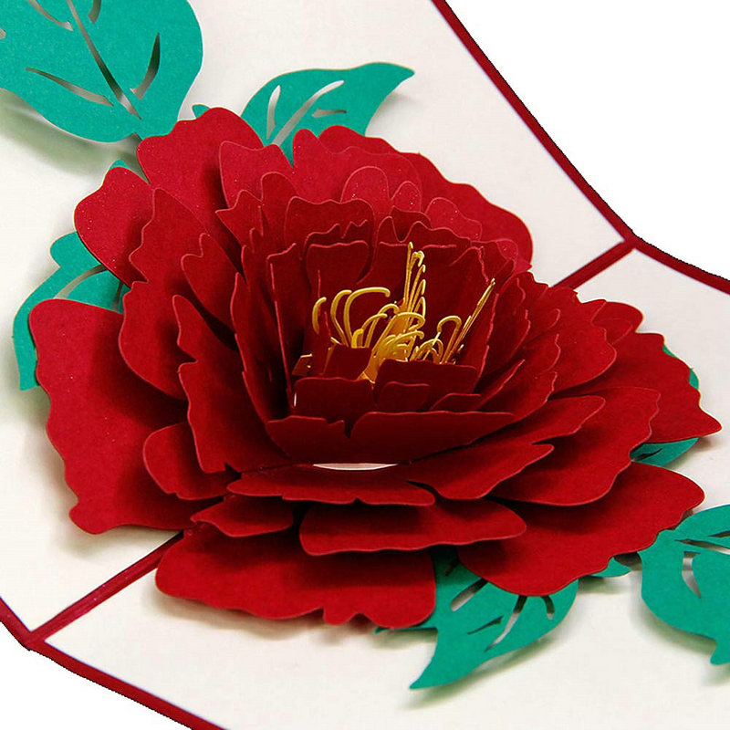 Romantic best wish greeting card 3d pop up peony flower handmade diy romantic best wish greeting card 3d pop up peony flower handmade diy decor gifts card in cards invitations from home garden on aliexpress alibaba m4hsunfo Image collections
