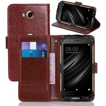 Перейти на Алиэкспресс и купить Классический чехол-бумажник GUCOON Для Doogee S40 S60 Lite из искусственной кожи Винтажный чехол с откидной крышкой Магнитный модные телефонные шкафы