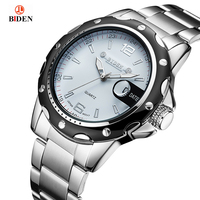 Relogio Masculino BAIDEN Mens Watches Top Brand Luxury Male Quartz Watch Men Business Stainless Steel Waterproof