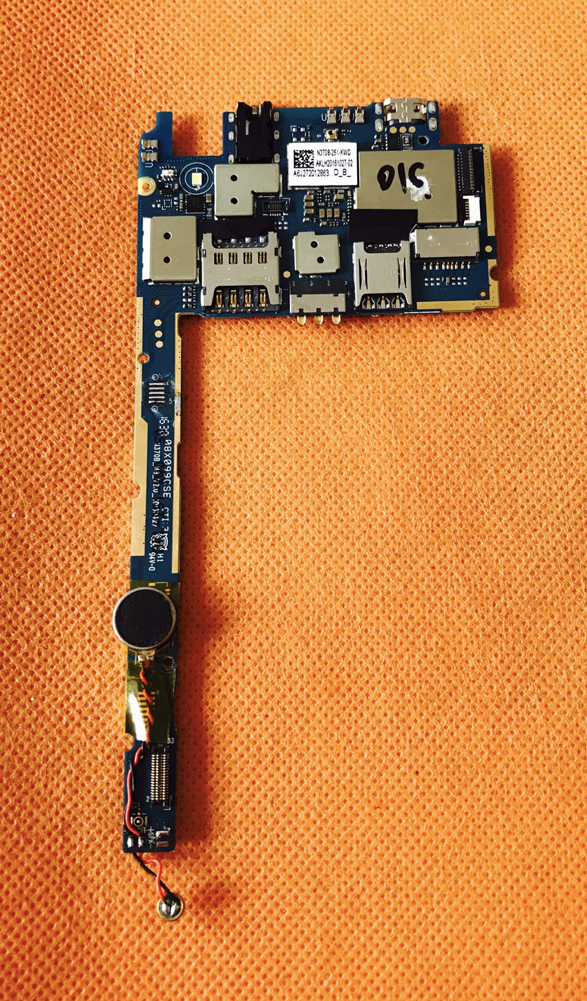 Used Original mainboard 2G RAM+16G ROM Motherboard for Doogee X5 Max pro  MTK6737 Quad Core Free shipping
