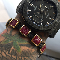 Mcllroy Armband Link ketting Zwart Lederen Armband Paar Sieraden beste anniversary Rechthoek Verbinding Armbanden Sieraden