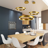 Industrial Individuality Combination LED Rings Chandeliers Office Bar Restaurant Hotel Engineering luminaire