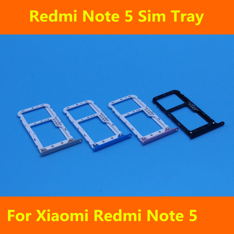 New SIM Tray Sim Card Holder Slot used+100% Replacement replacements For Xiaomi Redmi Note 5 Free shipping +Tracking Code