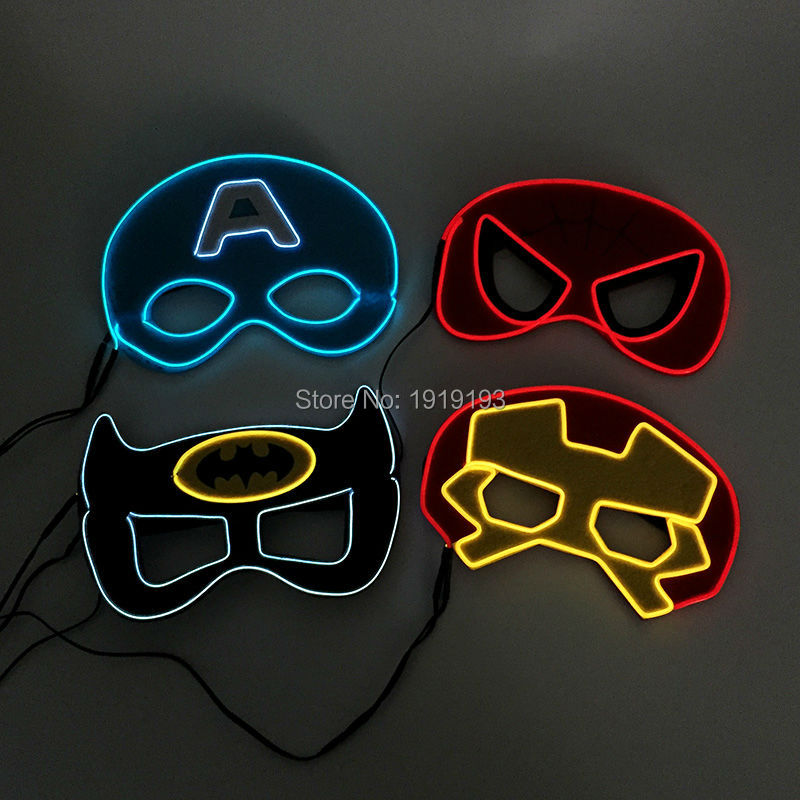 Men's Accessories Apparel Accessories 1pc Led Mask Atttractive Luminous 7 Colors Dust-proof Bright Light Up Mask Rave Mask For Party Women Men Halloween Year-End Bargain Sale