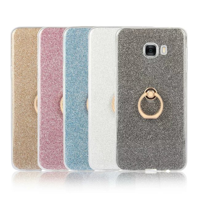 Cyato Soft TPU Phone Case On The for Samsung Galaxy NOTE 3 4 5 S3 S4 S5 S6 S7 edge S8 Plus C5 C7 C9 Clear Case With Ring Buckle