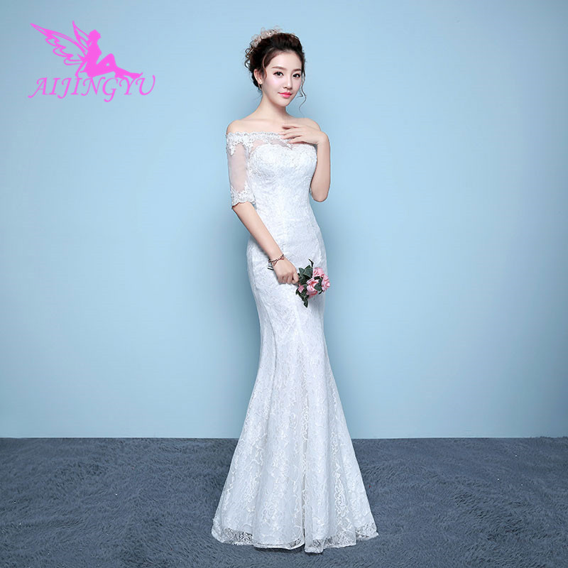 AIJINGYU 2018 long free shipping new hot selling cheap ball gown lace up back formal bride