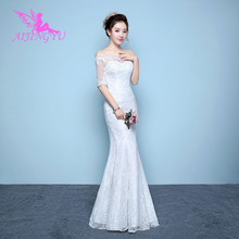 AIJINGYU 2021 длинное индивидуальное Новое горячая Распродажа Дешевое бальное платье со шнуровкой сзади женское свадебное платье WK252