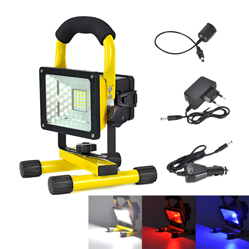 Rechargeable Portable 20W 24 LED Floodlight Red/White/Blue Flood Light Waterproof Camping Fishing Emergency Outdoor Light