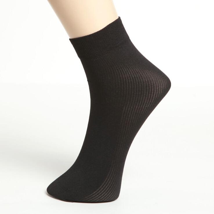 High Quality Brand Men Business Casual Black Silk Socks Spring Summer Male White thin Socks 12pairs/lot
