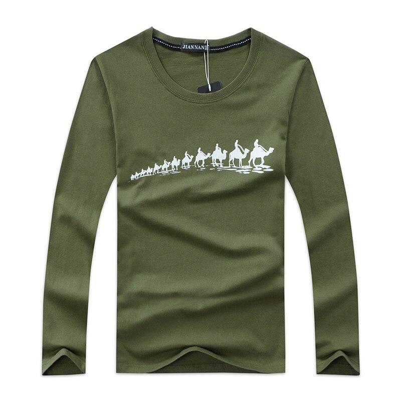 67580c2a65e4c 5XL más tamaño T Camisas hombres manga larga moda patrón impreso algodón  Tops Delgado Camisas casual masculina 6 colores