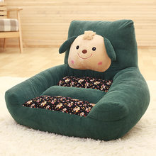 2017 New creative bedroom lazy plush sofa baby Plush toys sofa Child seat kids toys Baby chair 8 Colors(China)