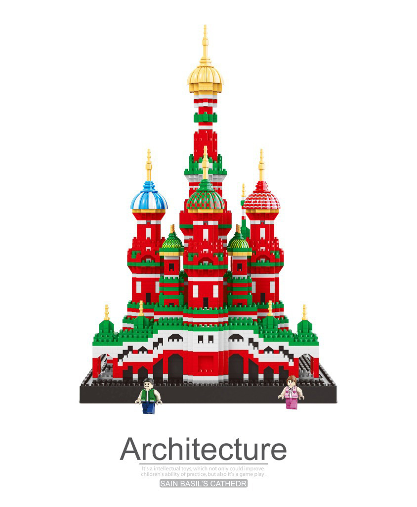 Saint Basil/'s Cathedral Nanoblock Micro Sized Building Blocks Construction Toy