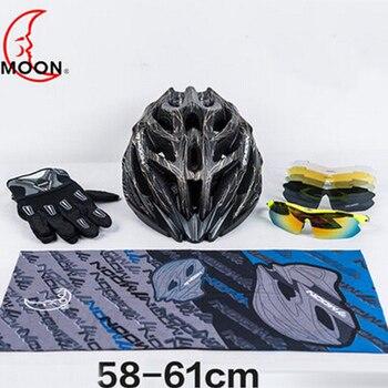 MOON 58-60cm Men Bicycle Helmet Outdoor Sport Protect Riding Helmet Men Mountain-climbing Portable Security Cycling Helmet