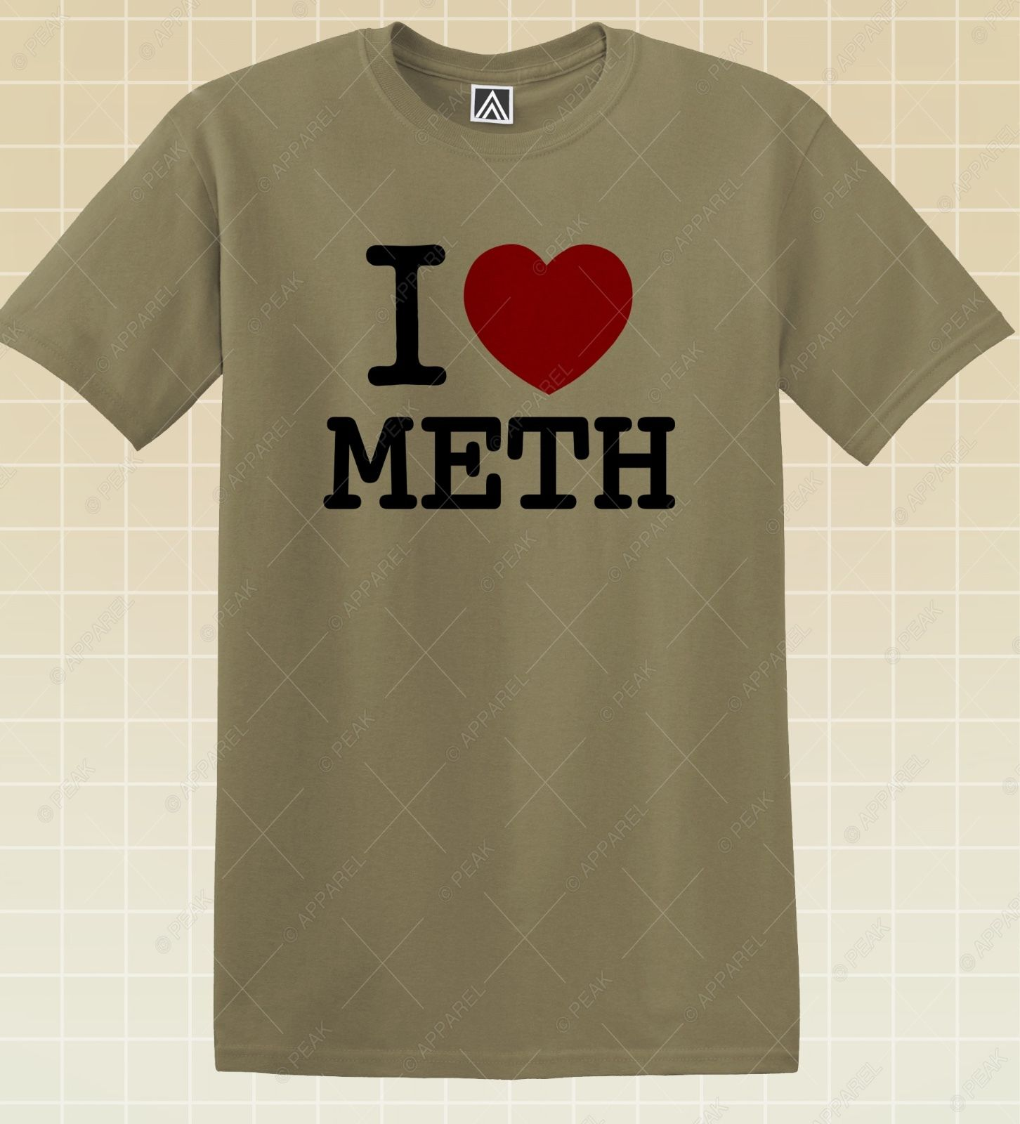 a247051589 I Love Meth T shirt NY Funny Drugs Tee LSD High Crystals Novelty Party Top-in  T-Shirts from Men's Clothing on Aliexpress.com | Alibaba Group