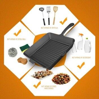Gusseisen Gasgrill | Schiff Von RU Nicht-klebrige Gusseisen Steak Pfanne Frühstück Braten Pan Allgemeine Verwendung Für Gas Induktion Herd Küche Kochen Werkzeuge