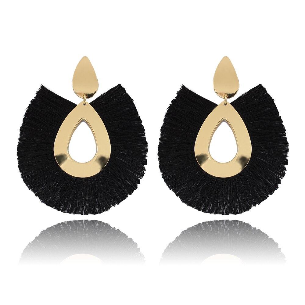 258bba863 2019 NEW Tassel Earrings for Women Big Fringe Earings Fashion Jewelry  Holiday Female Summer Style Bohemian