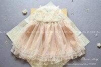 여자 서스펜더 꽃 구슬 드레스 여름 아기 아이 명주 의류 도매 진주 착용 200ES12DS-74PO [열한 스토리]