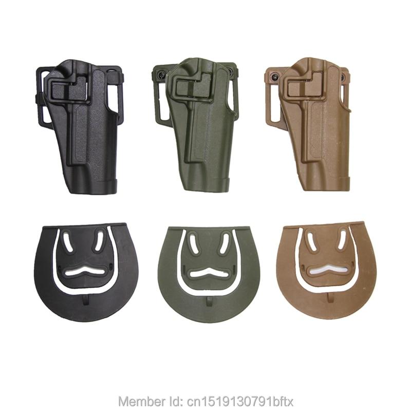 Цена за Открытый Охотничье Ружье Аксессуары Тактический Кобура Right Hand Пистолет Paddle Ремень Кобура для Colt 1911 Черный Коричневый Army Green