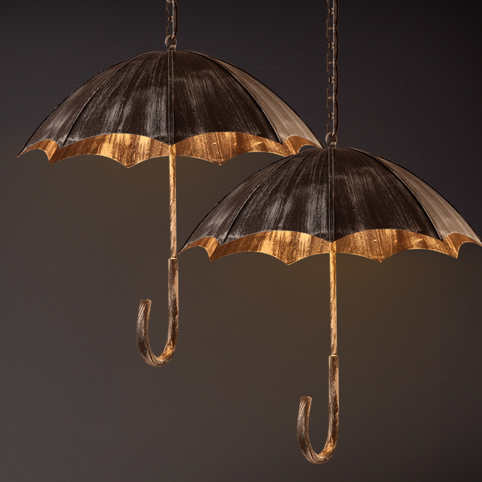 Retro creative umbrella wind industrial loft do the old wrought iron cafe bar restaurant pendant lights personality ArtRetro creative umbrella wind industrial loft do the old wrought iron cafe bar restaurant pendant lights personality Art