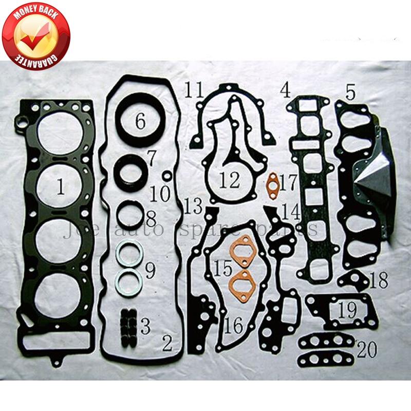 Полный комплект прокладок Комплект для TOYOTA CELICA купе/Крессида универсал 2.0l 1972cc 81-85 50099000 04111- 37022 Двигатели для автомобиля: 21r 21ru
