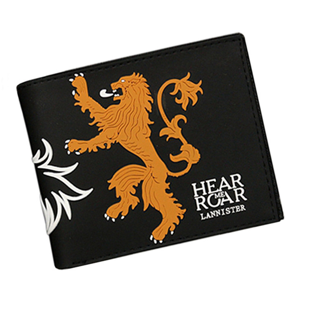 Game of Thrones Movie Boys girls Wallet Cartoon Student short wallet coin bag Anime credit cards holder carteira masculina