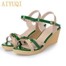AIYUQI 2019 Summer new platform woman sandals basic casual shoes  Sweet rome high heel wedges lady