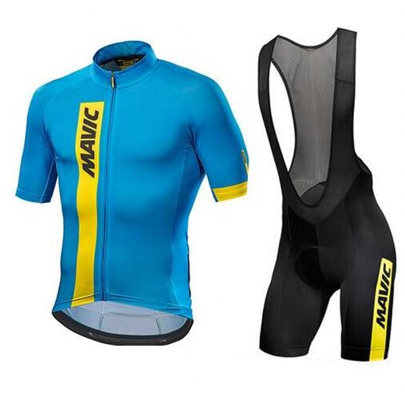 2018 Pro Team Mavic Cycling Jersey Bicycle Clothing Breathable Men Short Sleeve shirt Bike bib shorts 12D Gel ropa Ciclismo #315