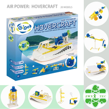 Gigo Air Power Hovercraft Toys Kits 110PCS 20 Hovercraft Vehicles with Air Engine and Balloon Engine #7366 Science Toys