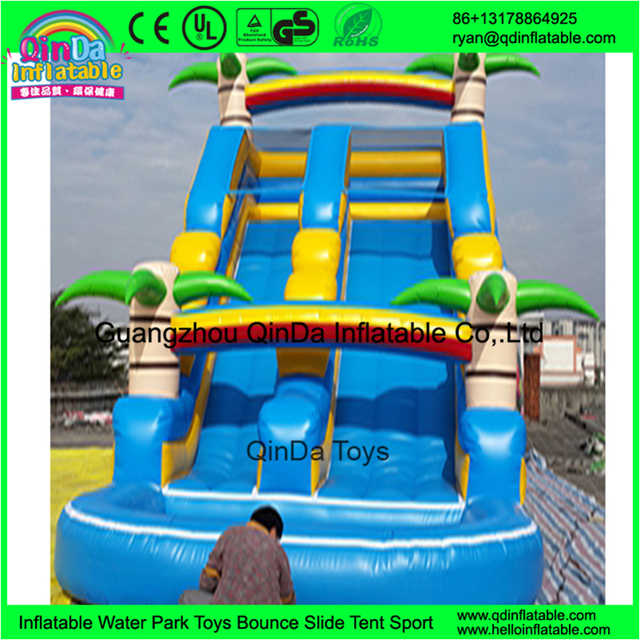 high commercial giant adult inflatable slide for sale price from China Guangzhou inflatable factory