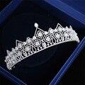 В Европейском стиле высокого класса микро-инкрустированные циркон корона принцессы день рождения невесты свадьба корона головной убор свадебное платье корона головной убор