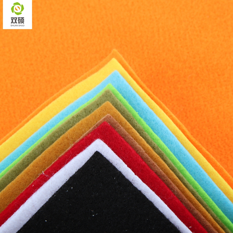 2015 New Arrivals Mix color Soft Polyester Nonwoven <font><b>Felt</b></font> Fabric DIY <font><b>Felt</b></font> Fabric Pack 2 <font><b>MM</b></font> Thick 10PCS/lot 30X30CM RN-<font><b>10</b></font>-3 image
