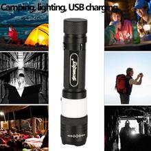Rechargeable T660 camping lights 3000 Lumens Bright  LED Adjustable Flashlight Torch Lamp Light For 18650 Battery