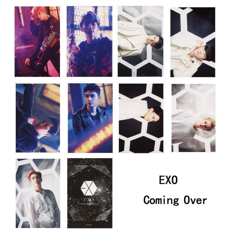 Youpop KPOP EXO Japan Coming Over Album Photo Card K-POP Self Made Paper Cards Autograph Photocard XK403 ...