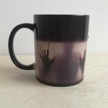 The walking dead la transformación de calor que cambia de color tazas de té tazas mágicas magia zombie vasos de cerveza taza taza de café tazas de desaparecer
