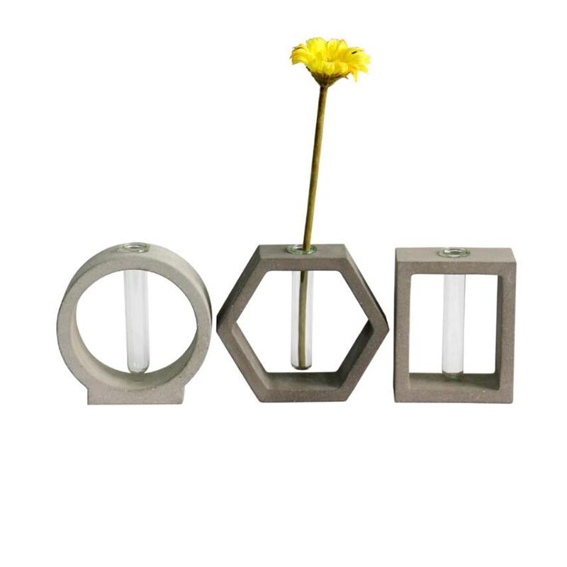 Beton behälter Form rohr vase beton halter form zement basis mold Einfache hause büro zement form-in Lehm-Formen aus Heim und Garten bei  Gruppe 1