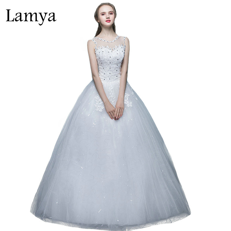 Cheap Plus Size Ball Gown Wedding Dresses: LAMYA Princess Cheap Sexy Wedding Dress 2018 Plus Size O