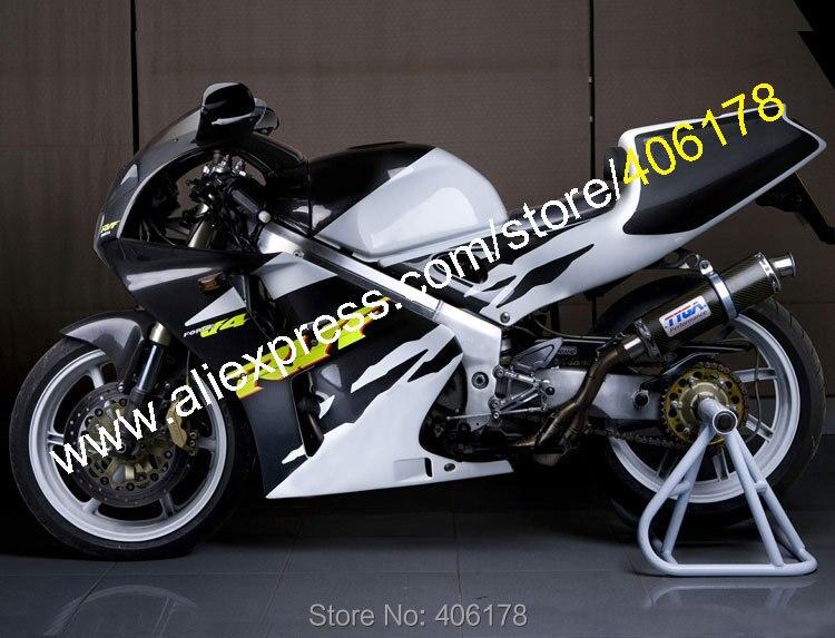 Hot Sales,For Honda RVF400R 1994 1995 1996 1997 1998 RVF 400 R NC35 RVF 400R 94 95 96 97 98 White Black Motorcycle Fairing Kit